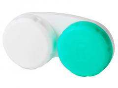 Pouzdro na čočky zeleno-bílé