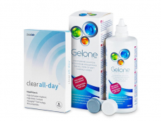 Clear All-Day (6 čoček) + roztok Gelone 360ml