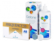 Frequency 55 Aspheric (6 čoček) + roztok Gelone 360ml