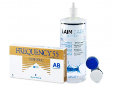 Frequency 55 Aspheric (6 čoček) + roztok Laim Care 400ml