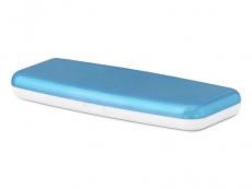 Pevné pouzdro na jednodenní čočky - modré