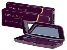 TopVue Elite+ (10 párů čoček) + Pevné pouzdro TopVue Elite