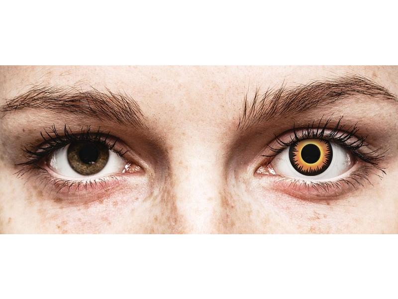 ColourVUE Crazy Lens - Orange Werewolf - nedioptrické (2 čočky)