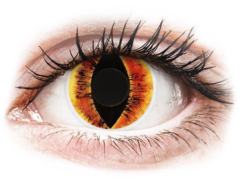 ColourVUE Crazy Lens - Saurons Eye - nedioptrické (2 čočky)