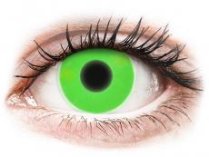 ColourVUE Crazy Glow Green - nedioptrické (2 čočky)