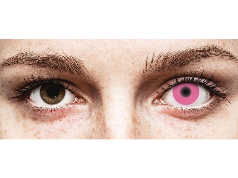 ColourVUE Crazy Glow Pink - nedioptrické (2 čočky)