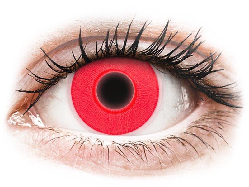 ColourVUE Crazy Glow Red - nedioptrické (2 čočky)