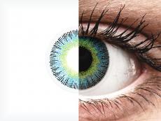 Žluto modré čočky Fusion - nedioptrické ColourVUE (2čočky)