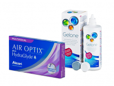 Air Optix plus HydraGlyde Multifocal (6 čoček) + roztok Gelone 360 ml