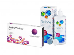 Avaira Vitality Toric (3 čočky) + roztok Gelone 360 ml