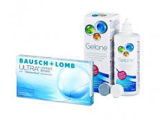 Bausch + Lomb ULTRA (3 čočky) + roztok Gelone 360 ml