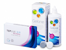TopVue Air Multifocal (3 čočky) + roztok Gelone 360 ml
