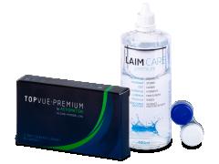 TopVue Premium for Astigmatism (3 čočky) + roztok Laim Care 400 ml