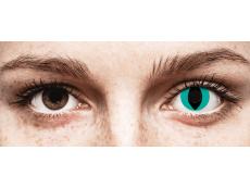 CRAZY LENS - Cat Eye Aqua - nedioptrické jednodenní (2 čočky)