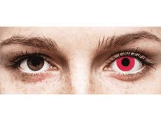 CRAZY LENS - Solid Red - nedioptrické jednodenní (2 čočky)