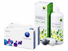Biofinity (2x 3 čočky) + roztok Hy-Care 360 ml ZDARMA