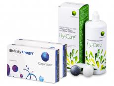 Biofinity Energys (2x 3 čočky) + roztok Hy-Care 360 ml ZDARMA