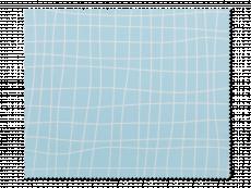 Čistící hadřík na brýle - světle modrý s mřížkou