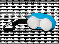 Pouzdro na čočky s karabinkou modré
