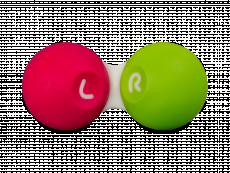Pouzdro na čočky SG růžovo-zelené