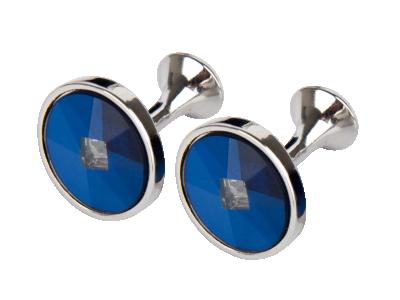 Manžetové knoflíčky Round Blue