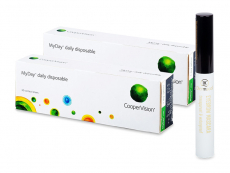 MyDay daily disposable (2x 30 čoček) + Dermacol řasenka Waterproof eyebrow 5 ml ZDARMA