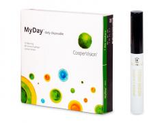 MyDay daily disposable (90 čoček) + Dermacol řasenka Waterproof eyebrow 5 ml ZDARMA