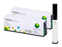 MyDay daily disposable toric (2x 30 čoček) + Dermacol řasenka Waterproof eyebrow 5 ml ZDARMA