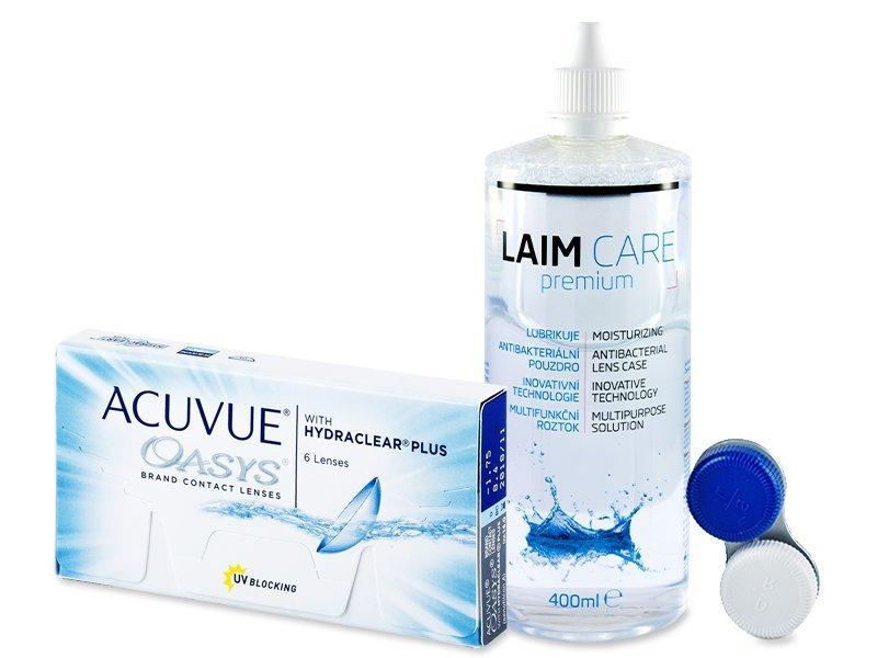 Acuvue Oasys (6čoček) + Laim Care 400 ml